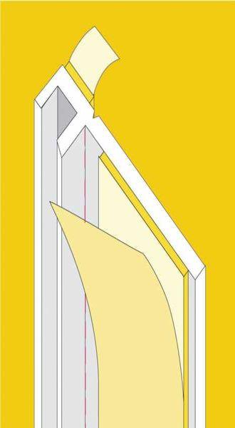 Ablakcsatlakozó műanyag profil - 5 x 9 mm - 2,4 fm/db
