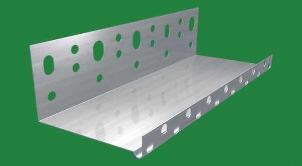 Alu lábazati indító profil - 0,6 x 60 mm - 2,5 fm/db