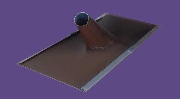 """Alumínium tetőkivezető 1"""" - 22 x 48 cm - barna"""