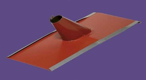 """Alumínium tetőkivezető 2"""" - 22 x 48 cm - téglavörös"""