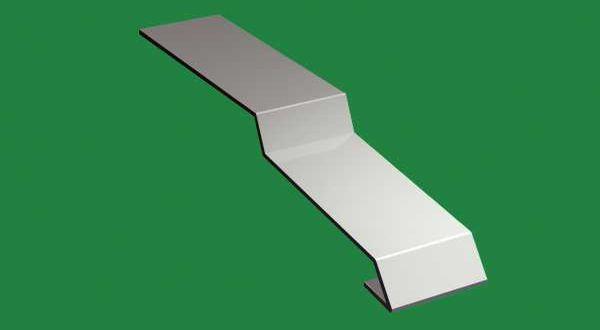 Balkonprofil csatlakozó elem - RAL7001 szürke