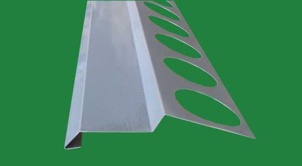 Balkonprofil, eloxált alumínium - 2 fm/db - RAL7001 szürke