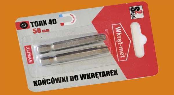 Behajtóhegy faszerkezetépítő csavarhoz - TORX40 - 50 mm