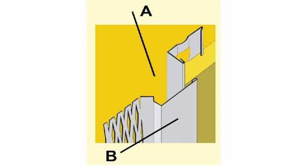 Beltéri dilatációs vakolóprofil A - 3 fm/db
