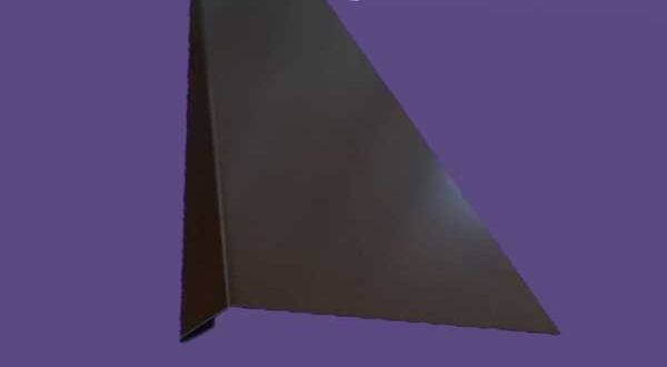 Ereszszegély, színes alumínium - 20 cm ksz - 2 m/db - barna