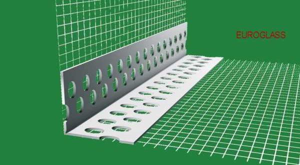 EUROGLASS standard hálós műanyag élvédő - 10 x 10 cm - 2,5 fm/db