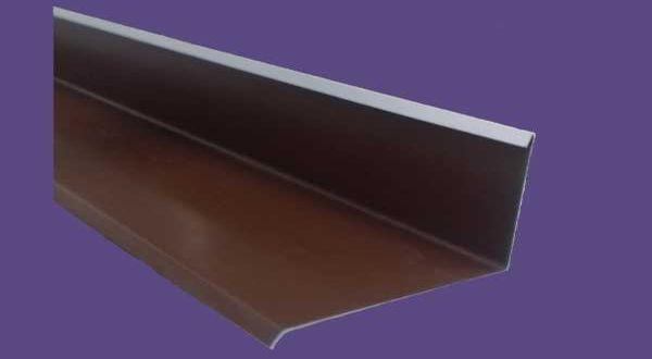 Falszegély, színes alumínium - 25 cm ksz - 2 m/db - barna