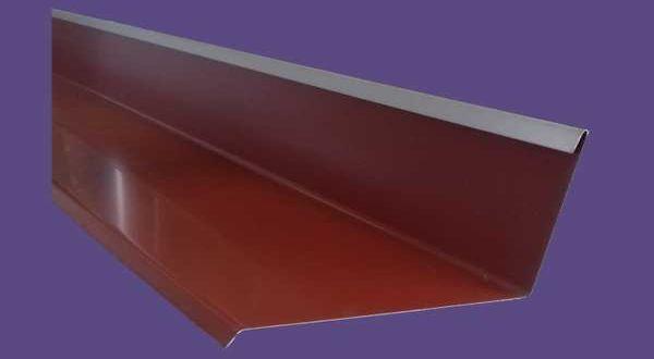 Falszegély, színes alumínium - 25 cm ksz - 2 m/db - téglavörös