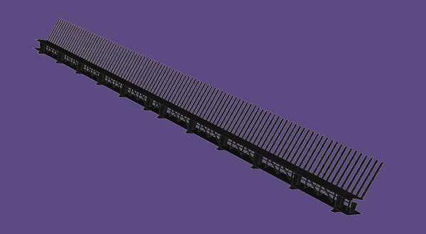 Fésűs szellőzőléc - 85 mm x 1 m - antracit