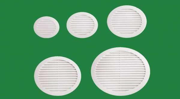 Fix szellőzőrács, fehér kerek - O 100 mm