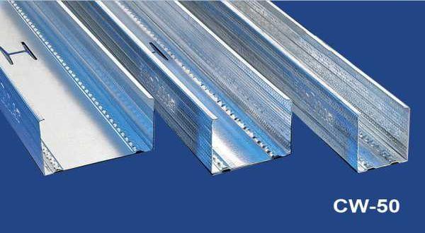 Függőleges falvázprofil - 0,6 mm CW50 - 3 fm/db