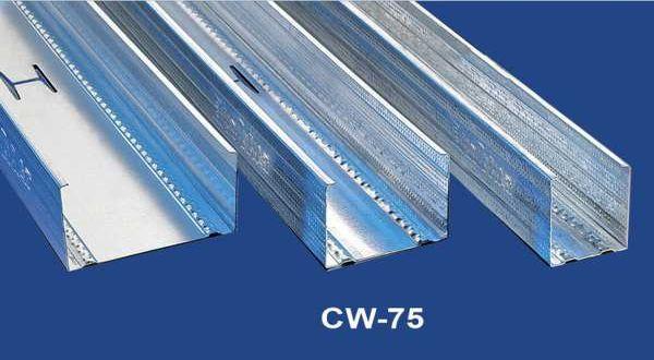 Függőleges falvázprofil - 0,5 mm CW75 - 4 fm/db