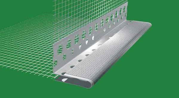 Hálós sarokdilatációs profil PVC - 2,5 fm/db