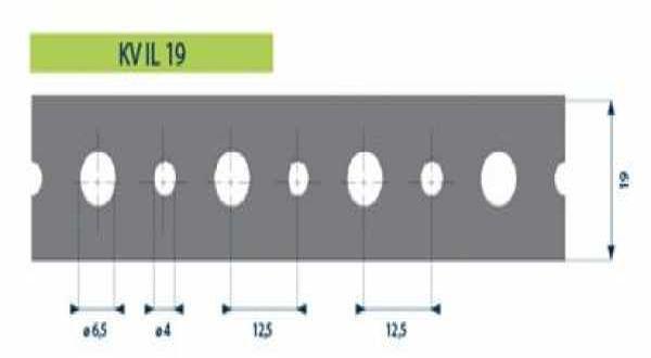 Hilti tip. acél rögzítőszalag - 19 x 0,7 mm x 3 m/tek