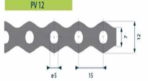 Hilti tip. acél rögzítőszalag, furat 5 mm - 12 x 0,7 mm x 10 m/tek