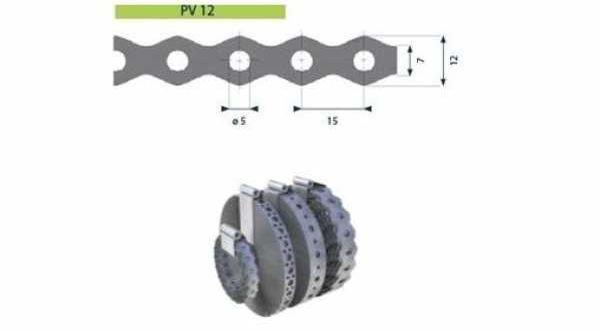 Hilti tip. acél rögzítőszalag, furat 5 mm - 12 x 0,7 mm x 25 m/tek