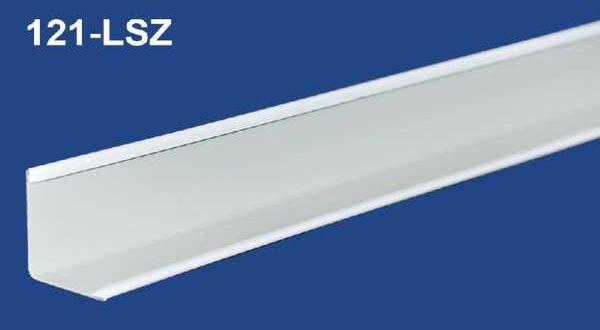 Kazettás álmennyezet falszegély - L19-24 x 3000 mm fehér