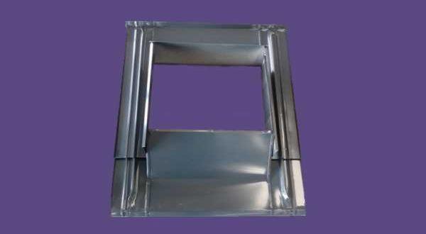 Kéményszegély, festett alumínium - 38 x 38/51 cm - antracit