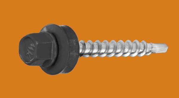 Lindab típusú csavar fához - 4,8 x 35 mm - RAL7016 antracitszürke
