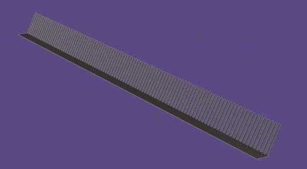 Műanyag lezárófésű - 1 m/db - barna