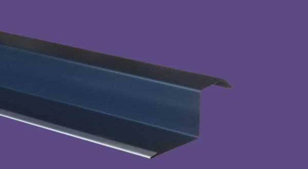 Oromszegély, színes alumínium - 25 cm ksz - 2 m/db - antracit