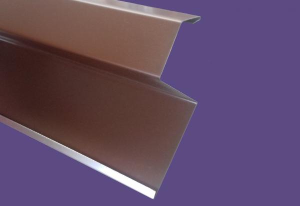 Oromszegély, színes alumínium - 25 cm ksz - 2 m/db - barna