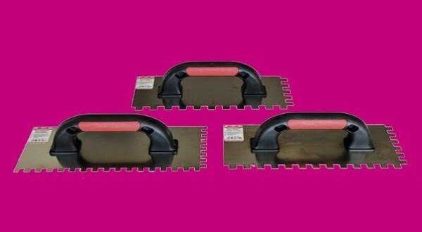 PROFI fogazott rozsdamentes glettelő - 8 x 8