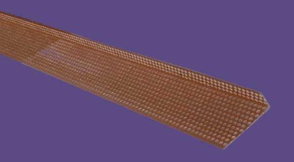 PVC szellőzőprofil - 30 x 90 mm - 2,5 fm/db - téglavörös