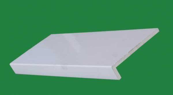 PZ606 fényes habosított műanyag párkány - 15 cm - fehér