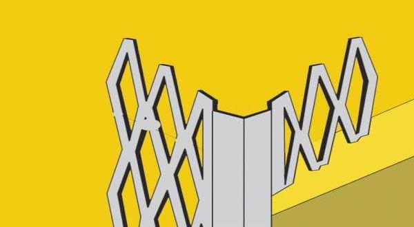 Sarokvédő acél vakolóprofil 0,6 mm - 2,75 fm/db