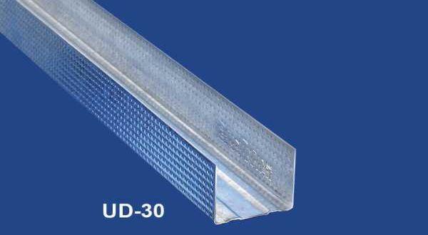 Szegélyprofil álmennyezethez - 0,6 mm UD30 - 3 fm/db