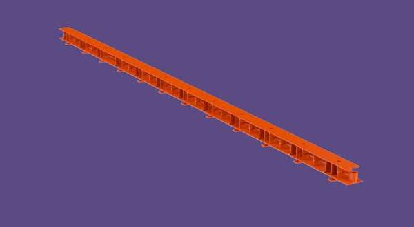 Szellőzőléc - 32 mm x 1 m - téglavörös