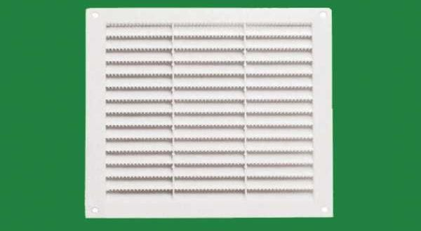 Szellőzőrács, fehér szögletes - 23 x 23 cm