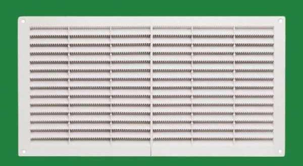 Szellőzőrács, fehér szögletes - 15 x 38 cm