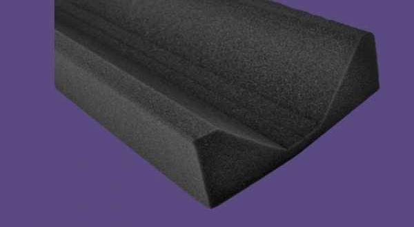 Szivacs élgerincelem - 1 m / 75 mm - antracit