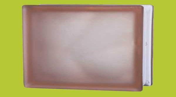 Üvegtégla - 190 x 190 x 80 mm - pink, matt