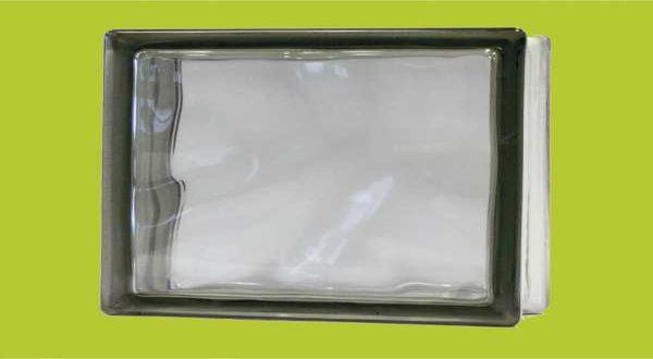 Üvegtégla - 190 x 190 x 80 mm - szürke, tiszta