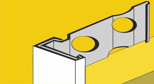 Vakolatelválasztó profil PVC bevonattal - 20 mm - 3 fm/db