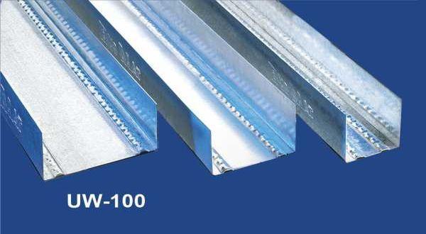 Vízszintes falvázprofil - 0,5 mm UW100 - 4 fm/db