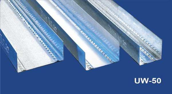 Vízszintes falvázprofil - 0,6 mm UW50 - 4 fm/db