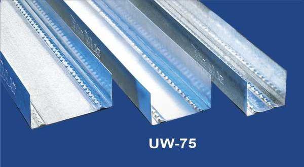 Vízszintes falvázprofil - 0,6 mm UW75 - 4 fm/db